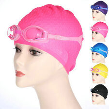 Durable Waterproof Fog Packed Women's/Men's Swim Goggles&Cap for Water Sports