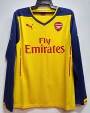 BNWT ARSENAL AWAY LONG SLEEVES 2014 2015 FOOTBALL SOCCER JERSEY TRIKOT