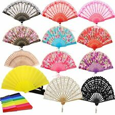 Chinese Japanes Spanish Lady Lace Folding Hand Fan Party Wedding Prom Dancing
