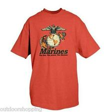 RED MARINES THE FEW THE PROUD IMPRINTED 1 SIDED T-SHIRT - Short Sleeve Tee