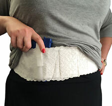 Women's Ladies White Lace Belly Band Gun Holster - Carry Any Size Hidden Pistol