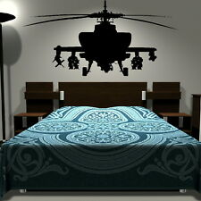 Army HELICOPTER kids bedroom wall art stickers childrens decal graphic transfer