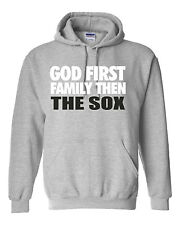 God First Family Then The Sox gray apparel Unisex Hoodie Free Shipping!