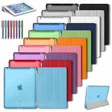 Magnetic Slim Leather Stand Smart Cover Back Skin Case For Apple iPad 2 3 4 New