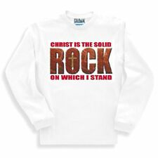 Christian SWEATSHIRT CHRIST IS THE SOLID ROCK ON WHICH I STAND cross