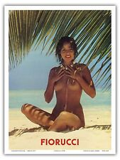 Fiorucci Fashion Italy Nude Beach Vintage Advertising Art Poster Print