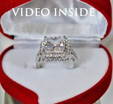Beauty4.+CT Princess Cut Engagement Ring Wedding Diamond Ring 22KT Made in Italy