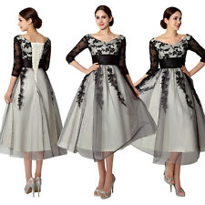 Plus Size Lace Short Wedding Party Dresses Formal Prom Evening Bridal Ball Gowns