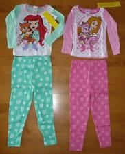 Girls Disney PALACE PETS 2 Pairs PAJAMAS PJs Size 3T 4T pants 4 pc Ariel Aurora