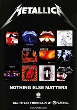 METALLICA Nothing Else Matters PHOTO Print POSTER Master Of Puppets Black 042