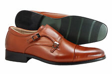 Men's Dress Shoes Majestic Collection Slip On Cognac Loafers Italian Style