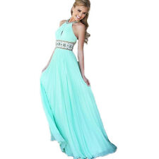 Sexy Women Backless Pleated Evening Party Ball Prom Gown Formal Cocktail Dress