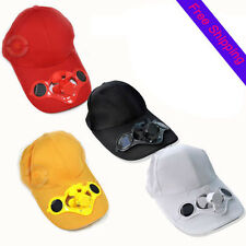 Outdoor Sport Sun Solar Power Hat Cap Cooling Cool Fan For Golf Baseball NEW LO