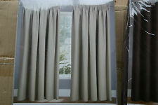 "SOFT DRAPE BLACKOUT PENCIL PLEAT CURTAINS IN CREAM 46"" X 54"""