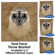 Seal Face Throw Blanket