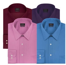 New Arrow Mens Classic-Fit No-Iron Sateen Point Collar Dress Shirt MSRP $45