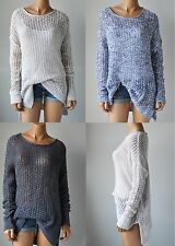 NWT HOLLISTER HCO WOMENS Open Stitch Long Length Sweater XS/S M/L
