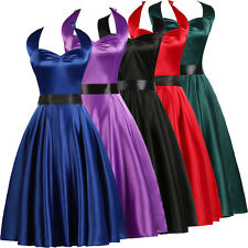 Vintage Rockabilly 50s 60s Pinup Housewife Evening Party Prom Swing DANCE Dress