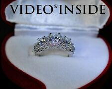 Bello*5 Stones Ring Round Cut 3.8CT Engagement Wedding Ring F.925 S.Silver ITALY