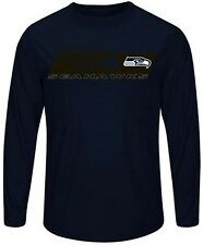 Seattle Seahawks Mens Long Sleeve Synthetic Storm Shirt Navy Big & Tall Sizes