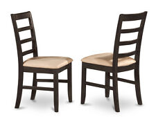 Parfait Chair for dining room - Black & Cherry Finish (Set of 2)