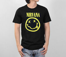NIRVANA LETLIVE NEVERMIND SMILEY FACE LOGO KURT COBAIN GRUNGE ROCK RETRO T-SHIRT