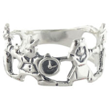 Alice in Wonderland Ring - 925 Sterling Silver - White Rabbit Queen Alice NEW