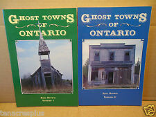 LOT Ghost Towns of Ontario Canada Volume 1 AND 2 Ron Brown~Canadian History~LN