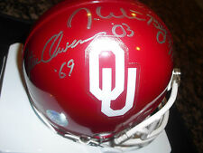 Steve Owens, Billy Sims and Jason White OU Autographed Mini Helmet