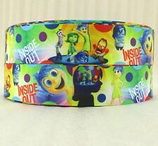 """1"""" New Colorful Inside Out grosgrain ribbon Joy, sadness , Anger - so cute!"""