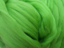 Apple Green Wool Top Roving -Spin into Yarn, Needle & Wet felt Crafts FREE SHIP