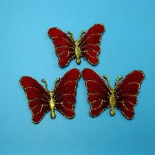 3 Butterfly Insect Iron Sew on Patch Applique Embroidered Biker Badge Lots Baby