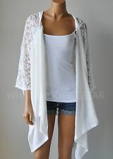NWT HOLLISTER HCO WOMENS White Floral Lace Non-Closure Top Cardigan