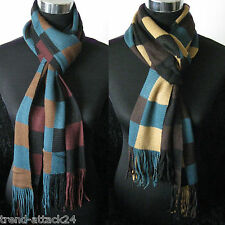 Trendy Men's Knit Scarf colourful Squares