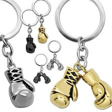 1Stainless Steel Pendant Gift Key fob Ring silvern golden black box boxing glove