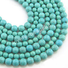 Wholesale Jewelry Findings Turquoise Spacer Loose Beads Charms DIY 4/6/8/10mm