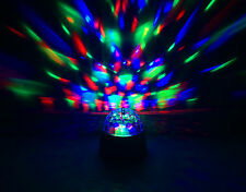 Bright & Powerful Disco LED Colour Light Bulb Rotating Spinning Ball Party Lamp