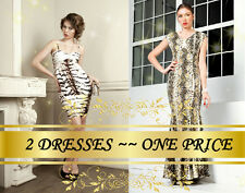 2 DRESSES~ONE PRICE! Snake Long Dress and Coctail dress by Roberto Cavalli!