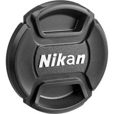 52 58 67 77mm Center Pinch Covers For Nikon DSLR Front Lens Caps Snap-On Filters