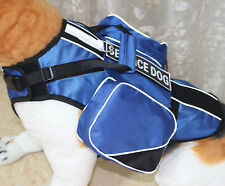 Service Dog Harness Vest Chest Plate Removable Backpack Side Bags & Velcro Patch