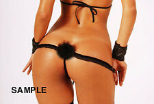 SEXY BUNNY TAIL G-STRING TANGA THONG PANTY -STRIPPER EXOTIC DANCER