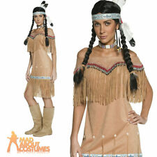 Adult Authentic Western Indian Lady Pocahontas Squaw Costume Fancy Dress New