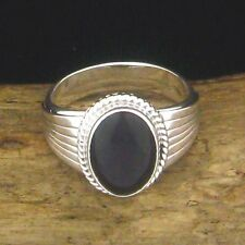 Native American Made Sterling Silver Mens's Black Onyx Ring - Select Size -- R94