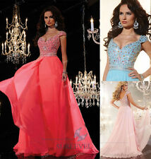 New Long Chiffon Bridesmaid Dresses Formal Ball Gown Party Prom Evening Dresses