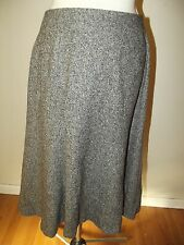 Talbots Black Gray Tweed Skirt size 6  Fully Lined Wool Blend