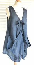 Gorgeous Italian linen tunic style top with bow tied front – Holly