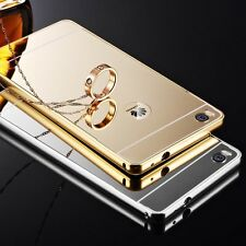 Aluminum Metal Ultra Thin PC Mirror Back Case Cover For Huawei Ascend P8 P8 Lite