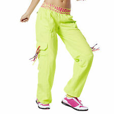 Zumba Dance Fitness Cut Me Loose Cargo Pants Lime Green! NWT! SHIPS SUPER FAST!