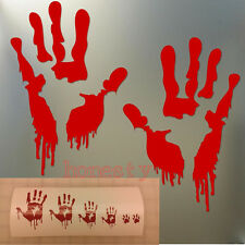 Bloody Zombie Hand Print Car Truck Vehicle Window Decal Vinyl Sticker Halloween