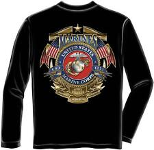 Erazor Bits Long Sleeve T-Shirt USMC Marines Logo Badge of Honor Semper Fidelis